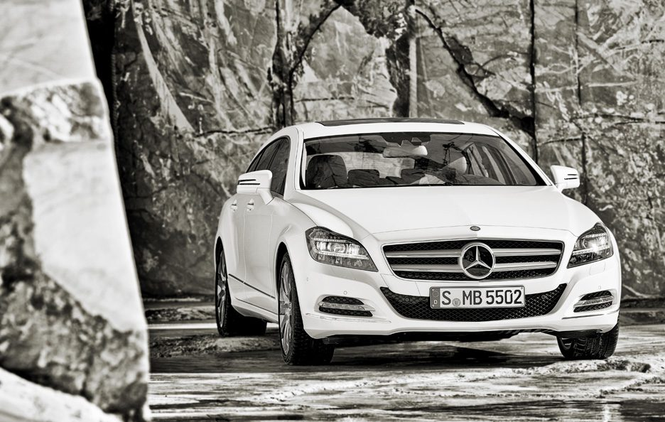 Mercedes CLS Shooting Brake - Il frontale