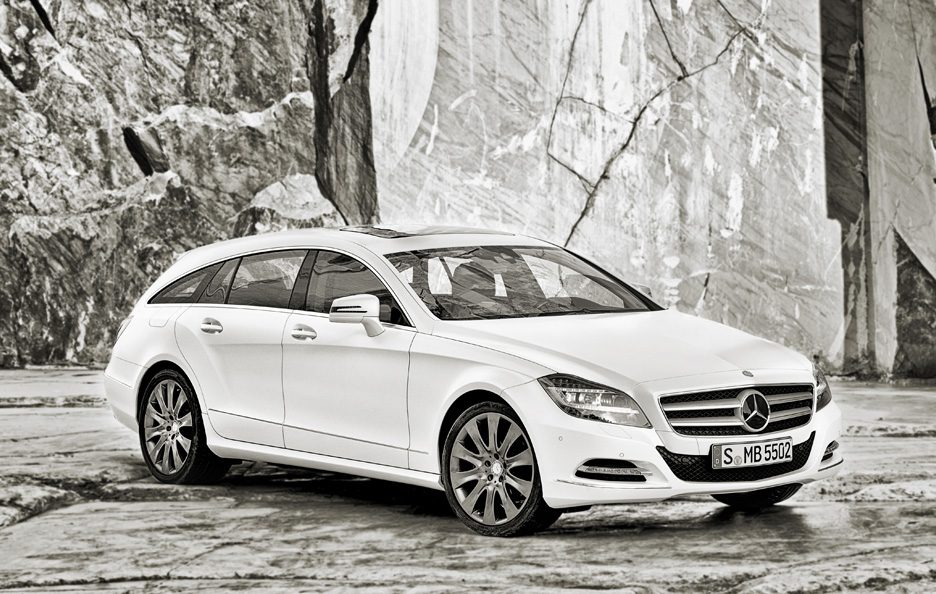 Mercedes CLS Shooting Brake - Il profilo frontale