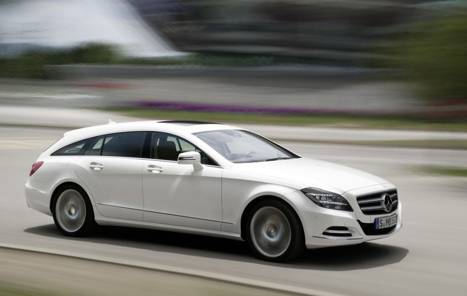 Mercedes CLS Shooting Brake - Profilo frontale in motion