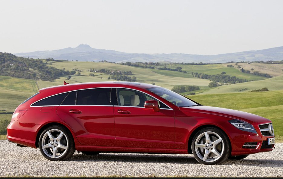 Mercedes CLS Shooting Brake - Red - Profilo