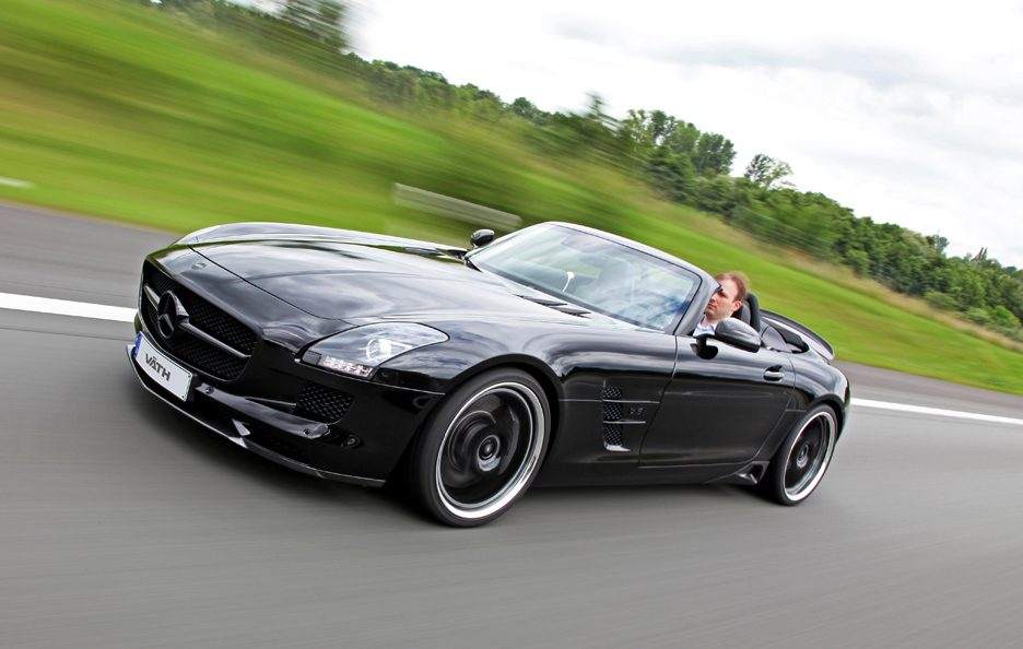 Mercedes SLS Roadster by Vath - Profilo frontale in motion