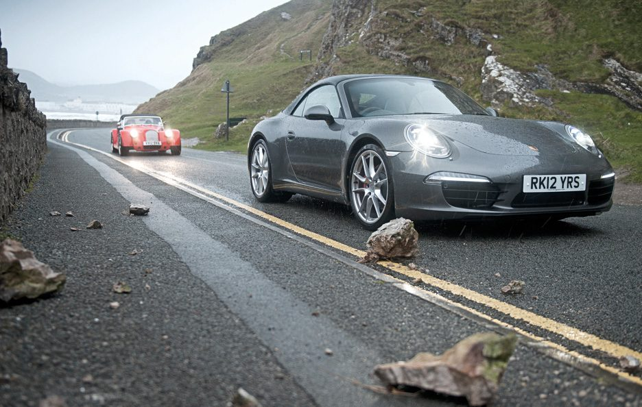 Porsche 911 Carrera S Cabriolet vs Morgan  Plus 8 2