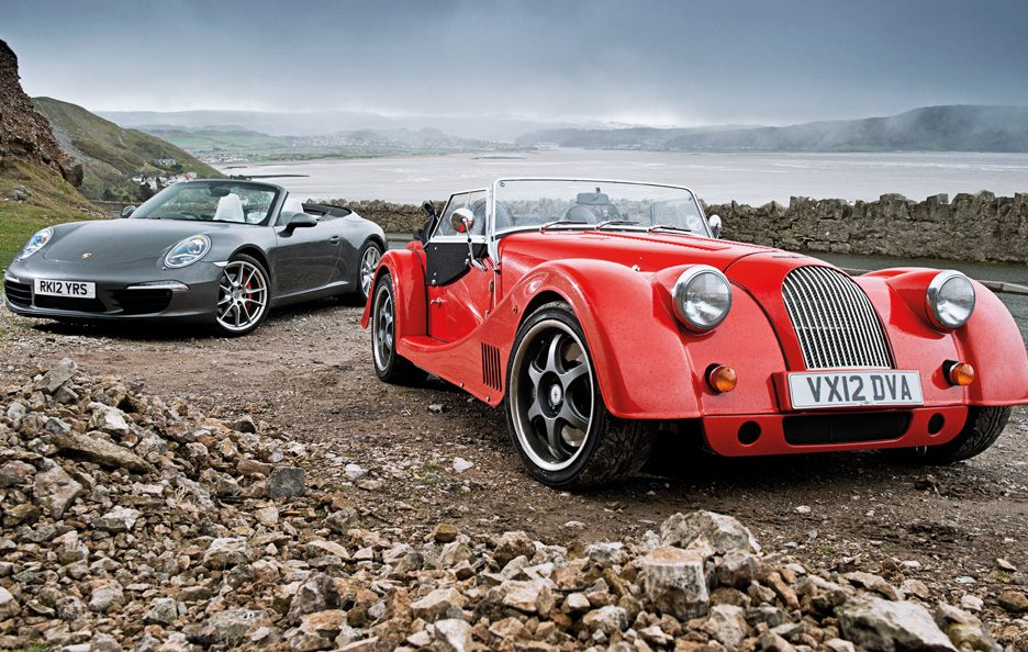 Porsche 911 Carrera S Cabriolet vs Morgan Plus 8 3