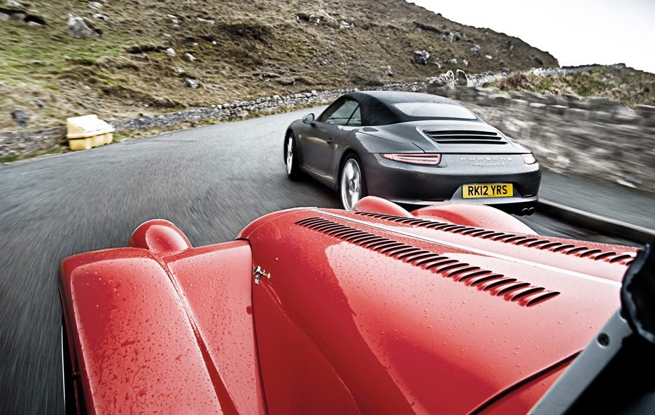Porsche 911 Carrera S Cabriolet vs Morgan Plus 8 4