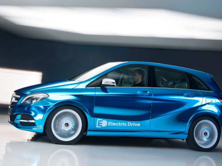 Mercedes Classe B Electric Drive al Salone di Parigi 2012