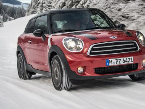 Mini Paceman All4 - Il frontale in motion