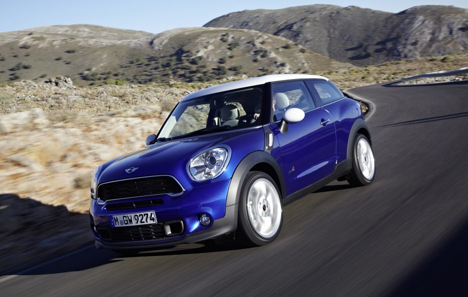 Mini Paceman - Frontale in motion
