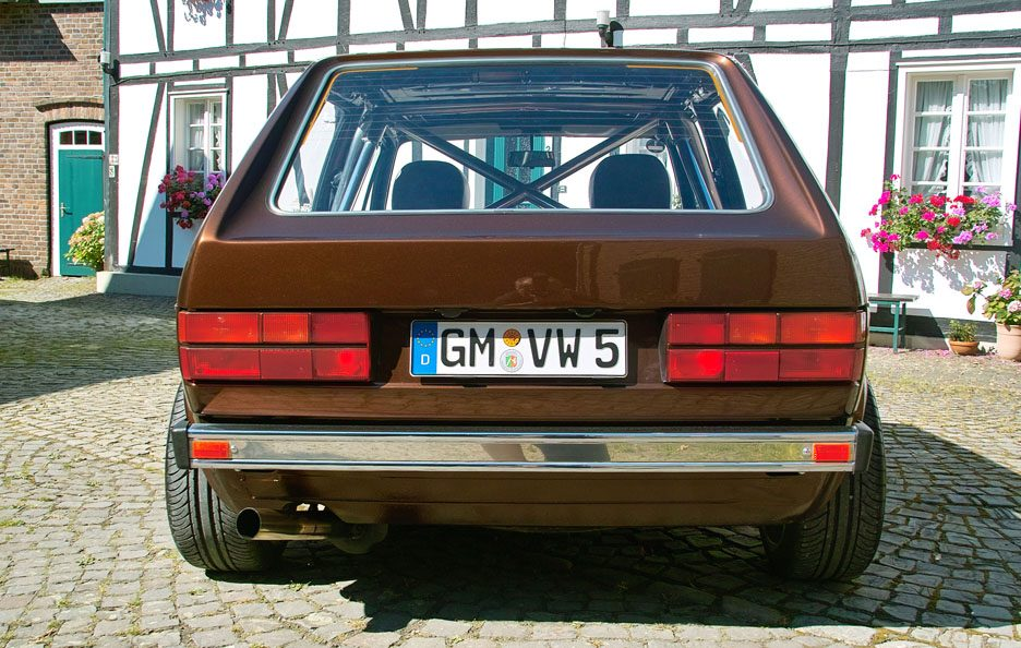 Volkswagen Golf GL del 1983 - Home made Tuning - Posteriore