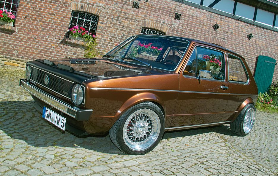 Volkswagen Golf GL del 1983 - Home made Tuning - Profilo antriore