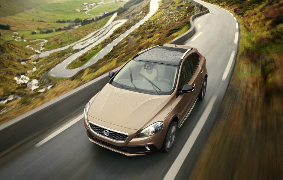 Volvo V40 Cross Country - Dall'alto