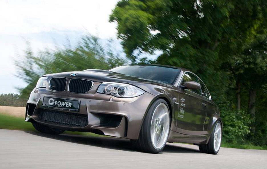 BMW Serie 1 M Coupe by G-Power - Frontale basso in motion