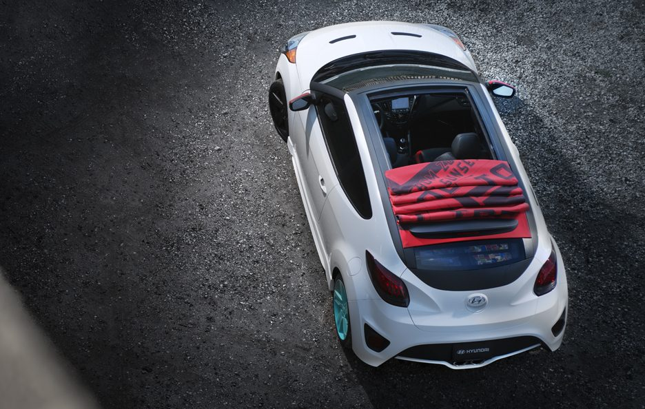 Hyundai Veloster C3 Roll Top Concept - Tetto in tela