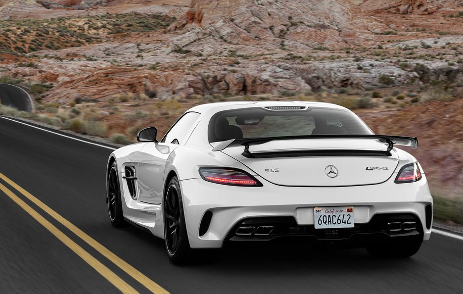 Mercedes-Benz SLS AMG Black Series - Posteriore in motion