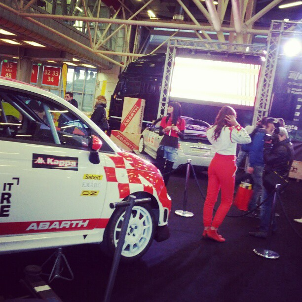 Intanto, al #motorshow2012,  @teamabarth ha portato Make It Your Race... e le sue belle auto ;-)
