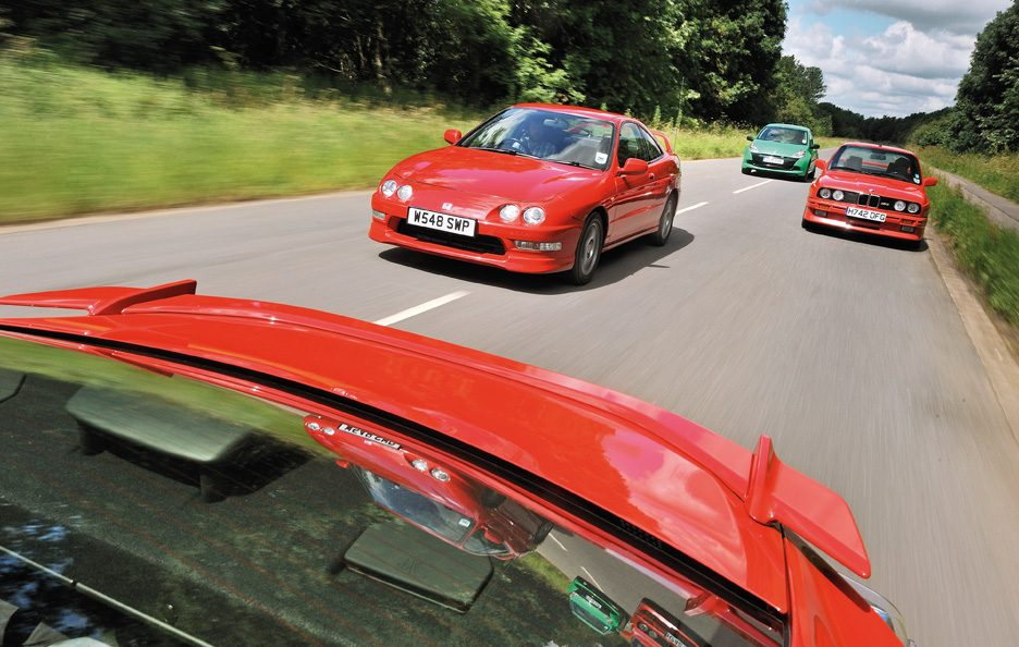 BMW M3 vs Honda Integra vs Renault Clio RS vs Toyota GT86 2