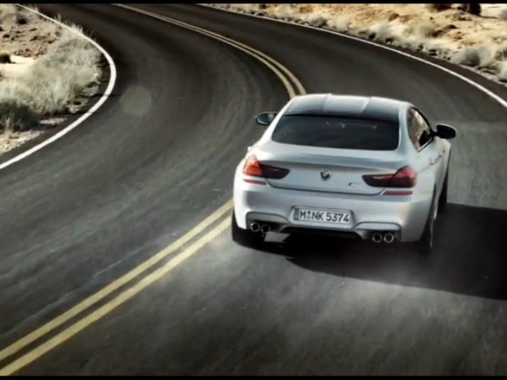 BMW M6 Gran Coupé: il video su strada
