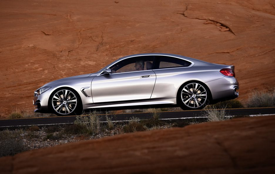 BMW Serie 4 Coupe Concept - Laterale in motion
