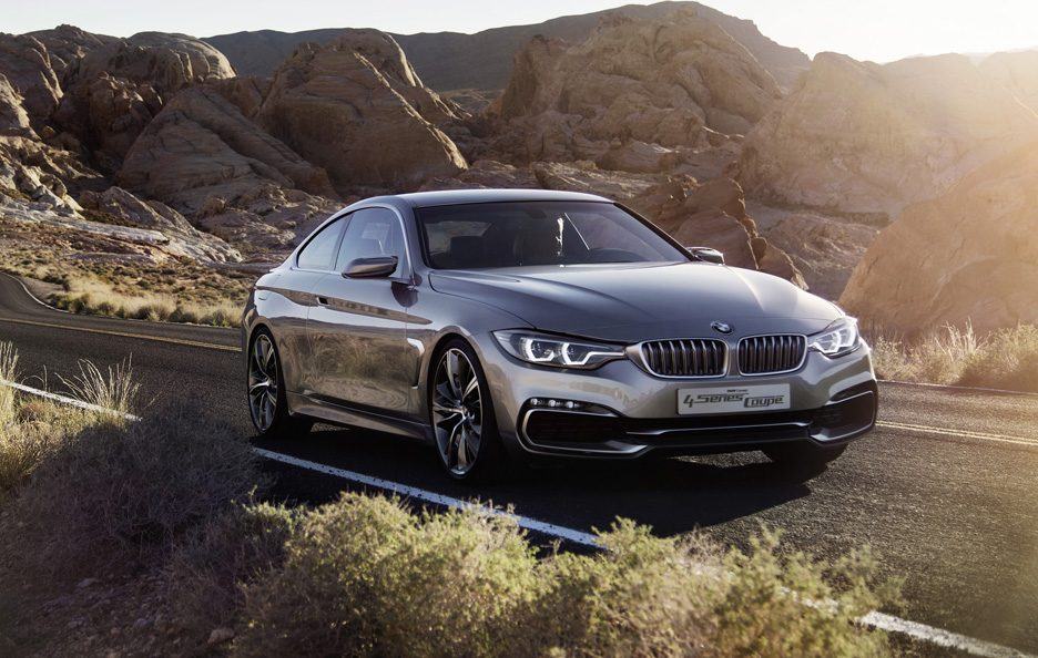 BMW Serie 4 Coupe Concept - Profilo frontale in motion