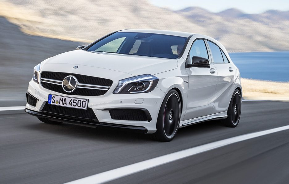 Mercedes A45 AMG - Anteriore in motion
