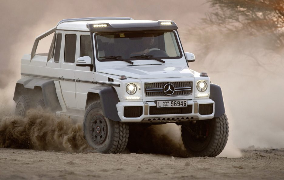 Mercedes G 63 AMG 6x6 - Profilo frontale
