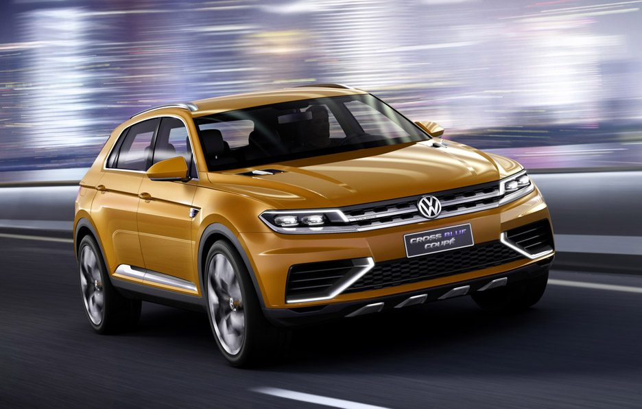 Volkswagen CrossBlue Coupé Concept - Anteriore in motion