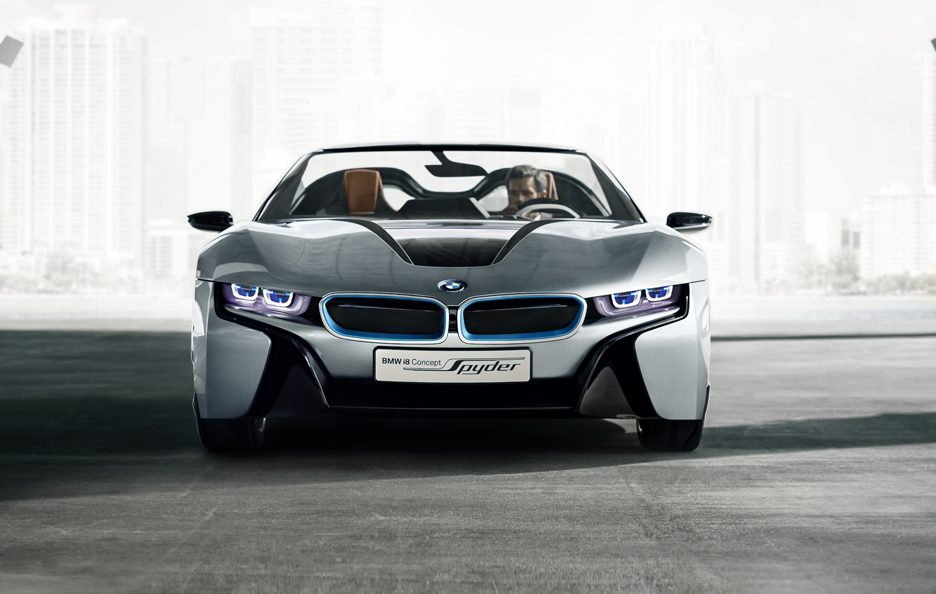 BMW i8 Concept Spyder - Il frontale