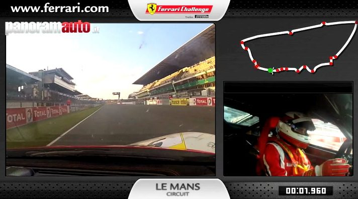 Ferrari 458 Challenge: on board a Le Mans
