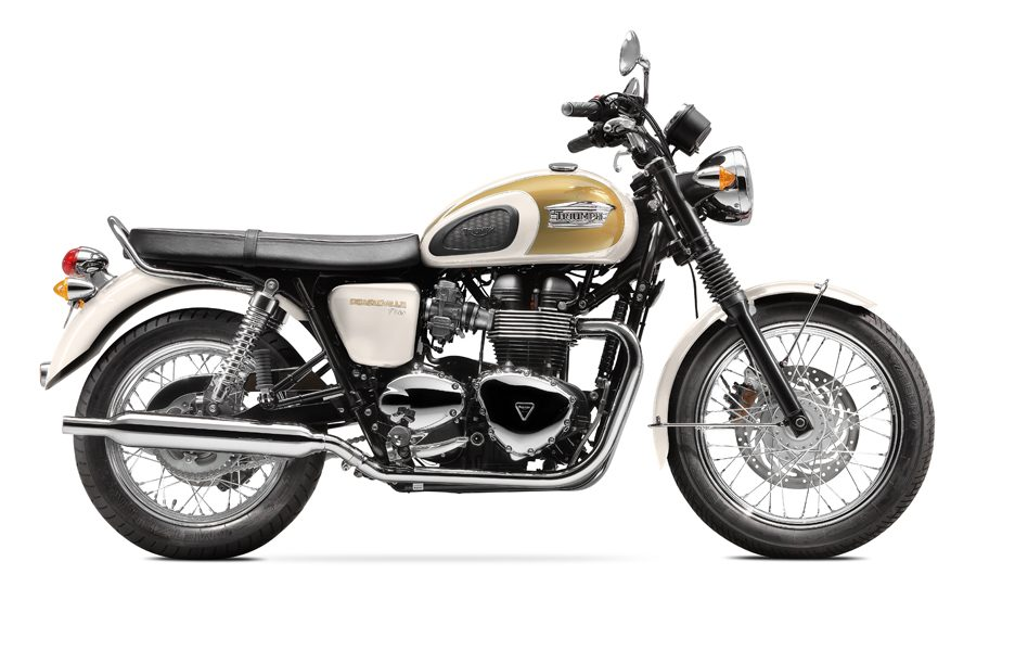 Triumph Bonneville T100 my 2014 Fusion White & Aurum Gold