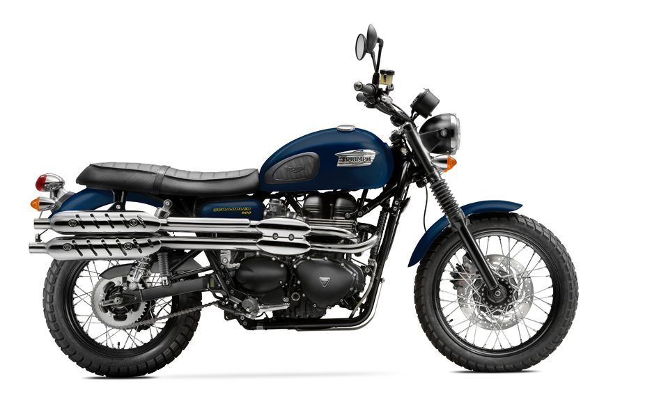 Triumph Scrambler my 2014 Matt Pacific Blue