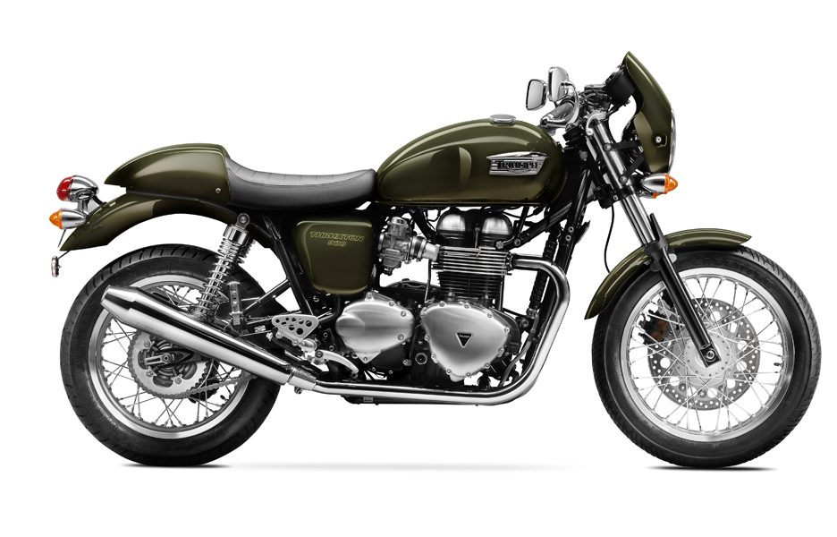 Triumph Thruxton my 2014 Brookland Green
