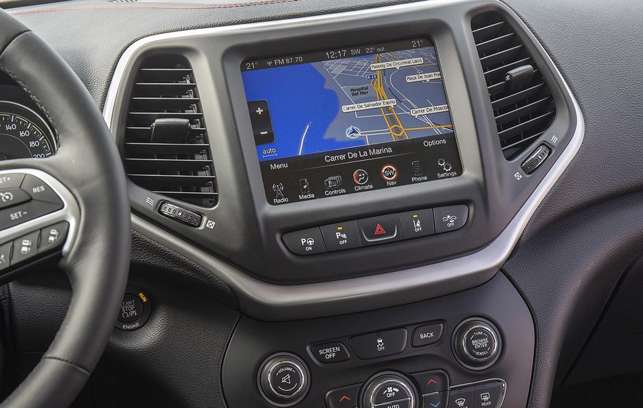 Jeep Cherokee consolle centrale