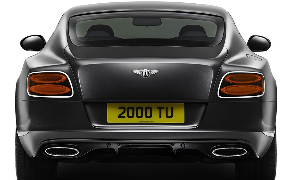 Bentley Continental GT Speed seconda generazione coda