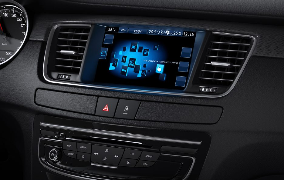 Peugeot 508 restyling consolle centrale