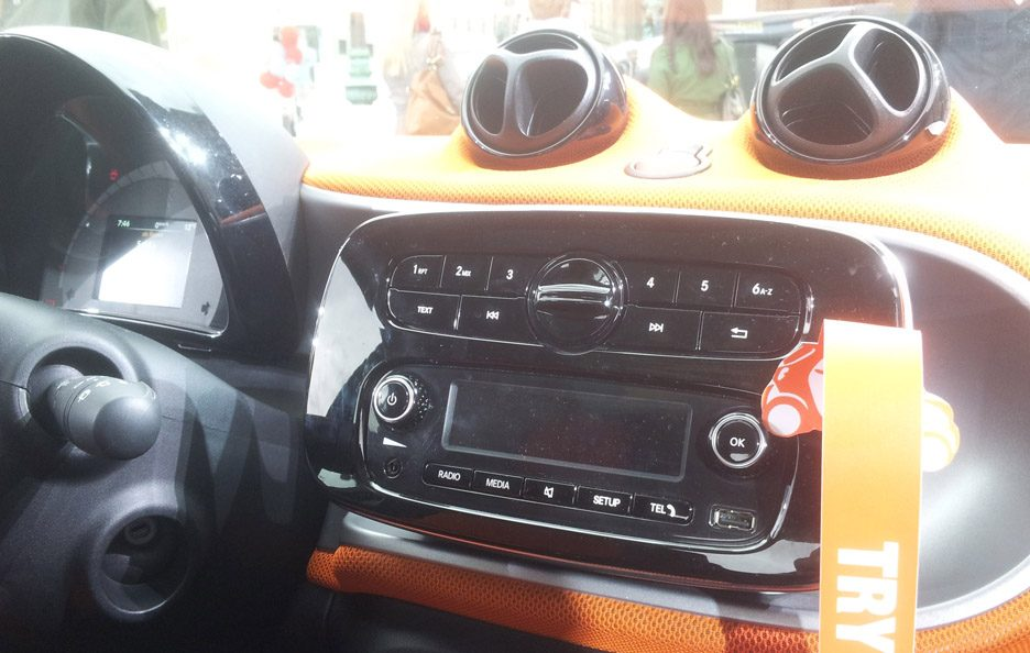 Smart fortwo consolle centrale