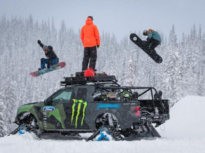 Ken Block: con il raptorTRAX in neve fresca