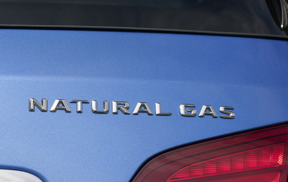Mercedes classe B seconda generazione restyling logo Natural Gas
