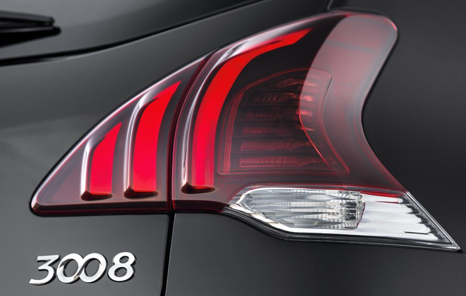 Peugeot 3008 restyling faro posteriore