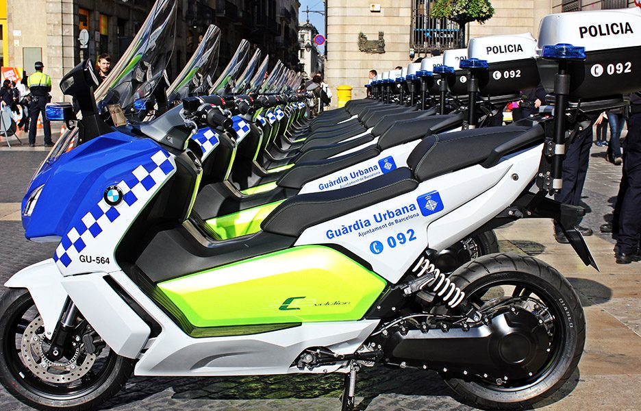 BMW C evolution Polizia Barcellona