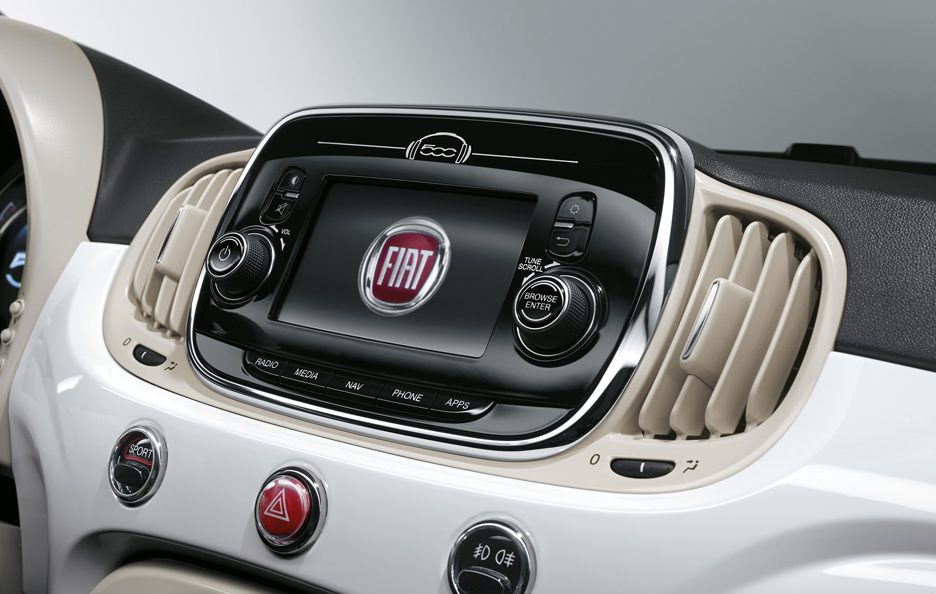 Fiat 500 restyling consolle centrale