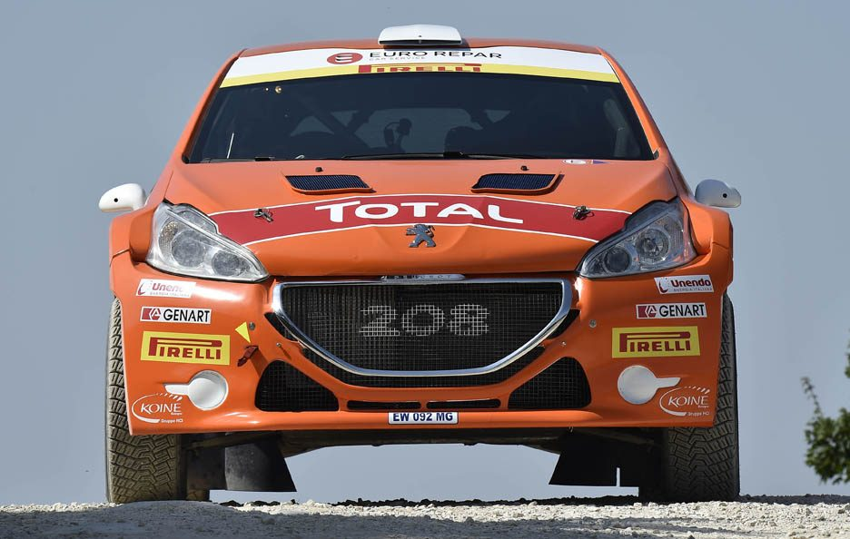 Peugeot 208 Andreucci Rally San Marino 2015 frontale