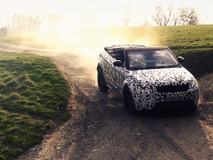 Evoque convertible - spy officia