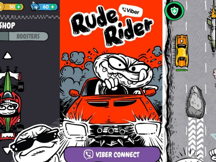 Viber presenta un racing game interno all'app