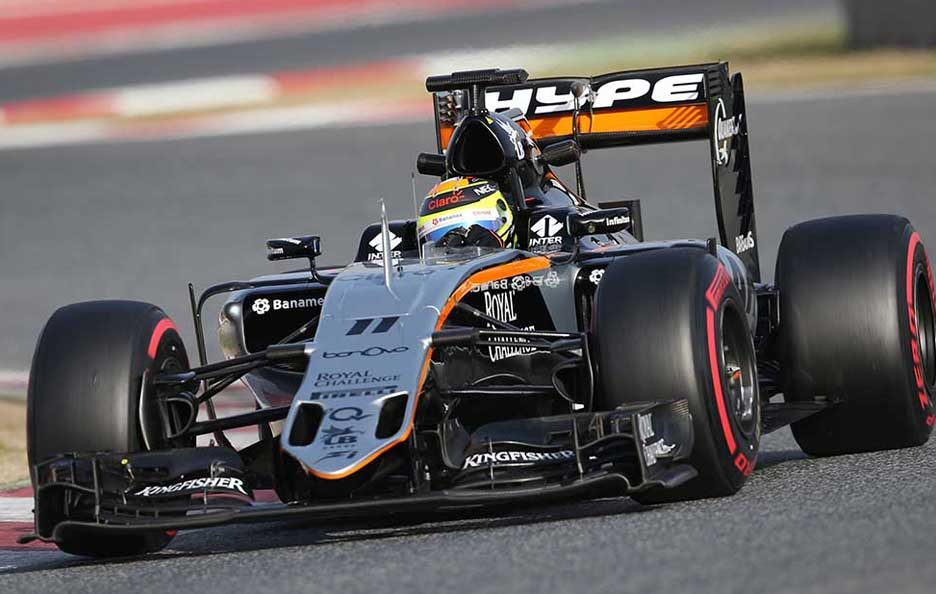 F1 test Barcellona 2016 Force India