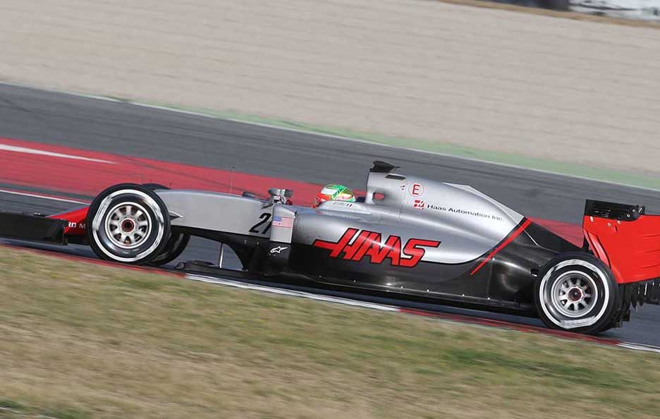 F1 test Barcellona 2016 Haas