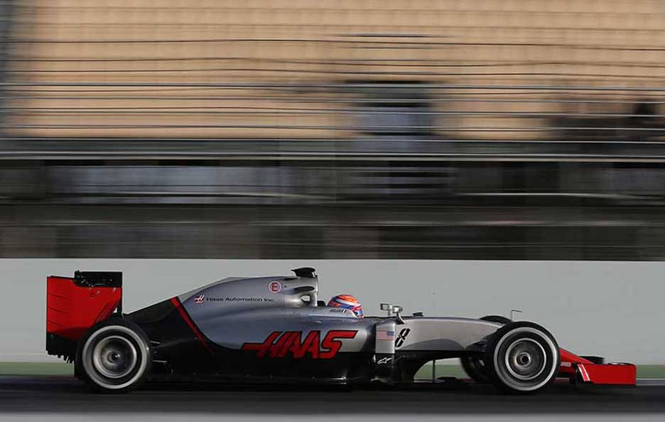 Test F1 Barcellona 2016 Haas