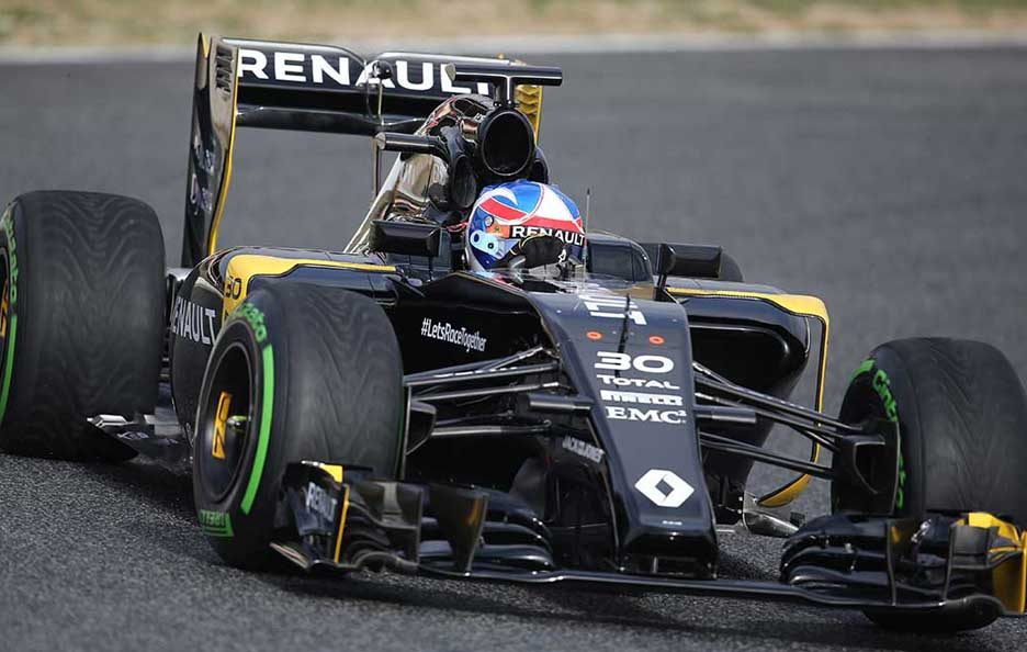 Test F1 Barcellona 2016 Renault