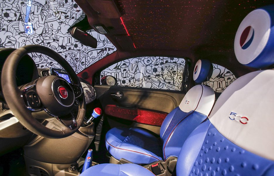 "Garage Italia Customs - Fiat 500 Pepsi ""Live for Now"""