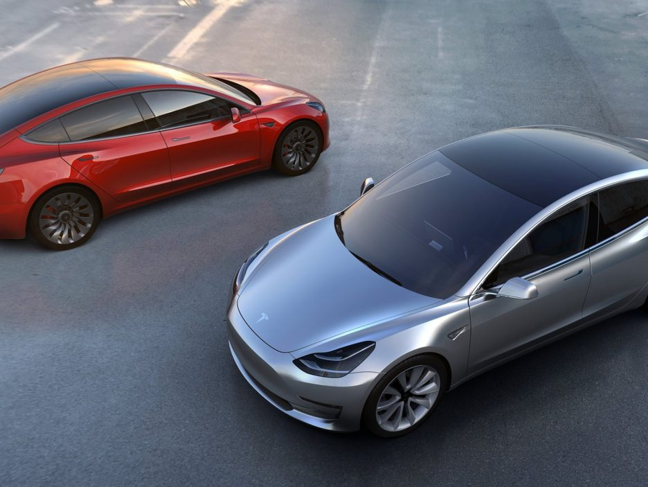 2018 - Tesla Model 3 vista dall'alto