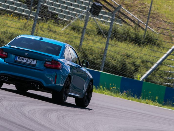 In pista con la nuova BMW M2 all'Hungaroring