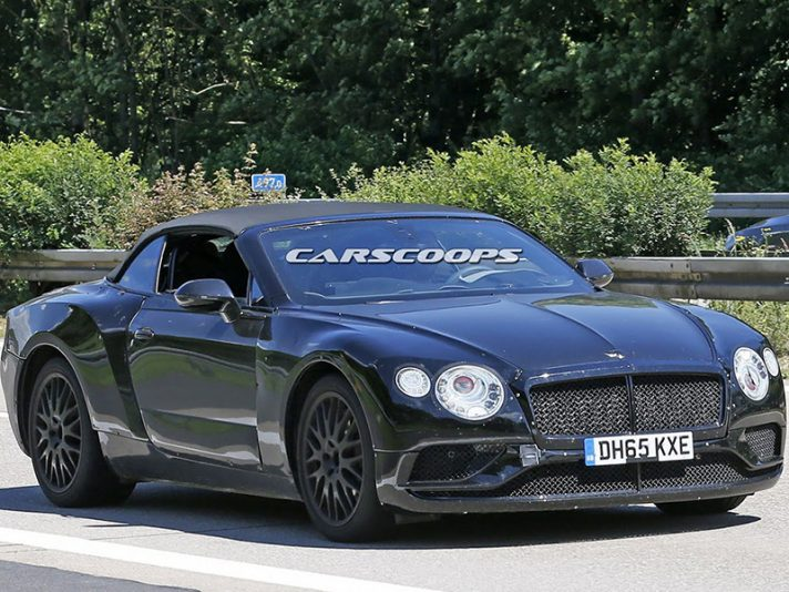 Bentley Continental GTC 2018, le foto spia